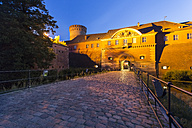 Germany, Berlin-Spandau, view to lighted citadel - TAMF00904