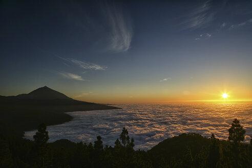 Spain, Tenerife, sunset at Teide National Park - DSGF01287