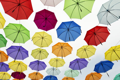 Indonesia, Jakarta, Kota Metro Station, colorful umbrellas - FPF00116