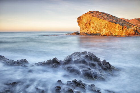Spain, Almeria, rocky volcanic coastline of Cabo de Gata Natural Park - DSGF01349