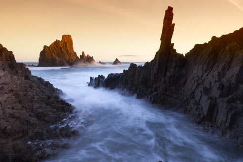Spain, Almeria, rocky volcanic coastline of Cabo de Gata Natural Park - DSGF01358