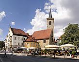 Germany, Erfurt, view to St Giles Church at Wenigemarkt - BT00456