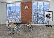 Meeting room with target, 3D Rendering - ALF00719