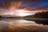USA, North Carolina, Blowing Rock, Price Lake at sunrise seen from Blue Ridge Parkway - SMA00613
