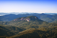 USA, North Carolina, view from Blue Ridge Parkway to Looking Glass Rock - SMAF00628
