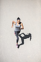 Top view of woman running - GIOF01704