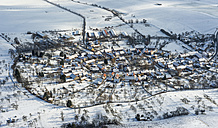 Germany, Tiefengruben, aerial view of village in winter - HWOF00162