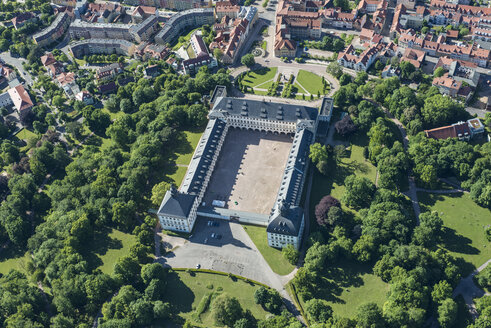 Germany, Gotha, aerial view of Friedenstein Castle - HWO00174
