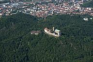 Germany, Eisenach, aerial view of Wartburg and city - HWOF00177