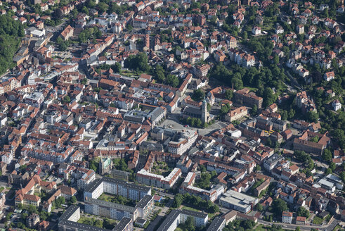 Germany, Eisenach, aerial view of the old town - HWOF00180