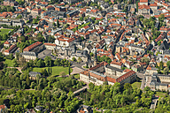 Germany, Weimar, aerial view of the old town - HWOF00183