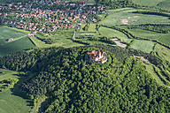 Germany, Thuringia, aerial view of Wachsenburg Castle - HWO00192