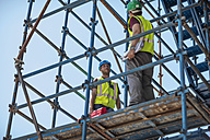 Construction workers standing on construction site - ZEF11883