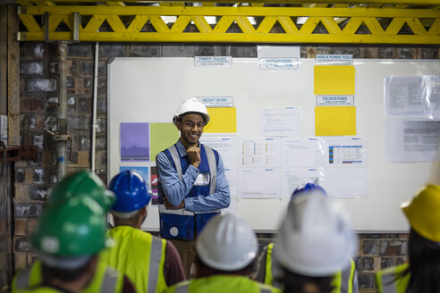 Construction engineers getting a safety briefing - ZEF11944