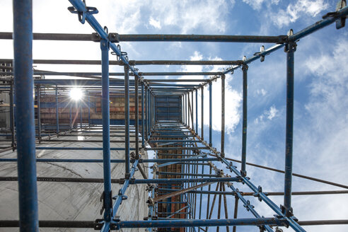 Scaffold on construction site, view from below - ZEF11962
