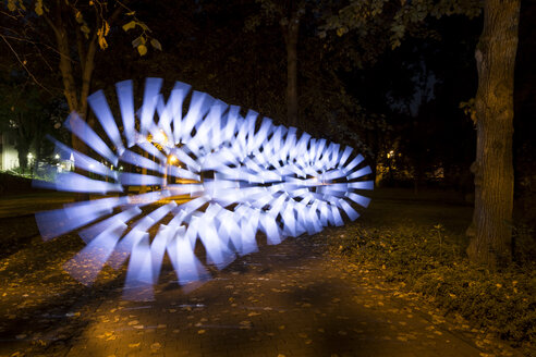 Light painting on autumn path - SJF00193