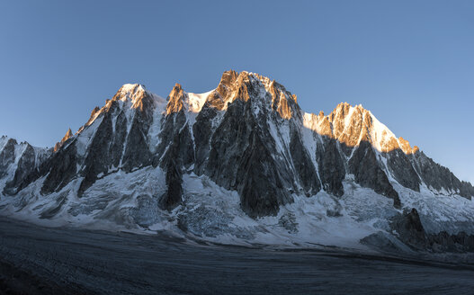 France, Chamonix, Argentiere Glacier, Les Droites, Aiguille Verte - ALRF00759
