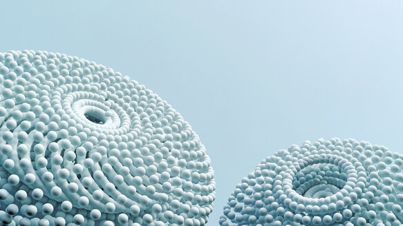 Two ball-shaped objects, 3D Rendering - UWF01087