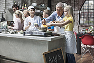 Kids and adults taking cooking course - ZEF12101