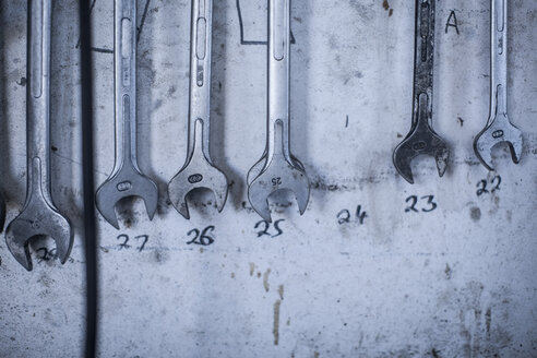 Assortment of screw wrenches in workshop - ZEF12135