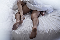 Legs of couple having sex in bed - ZEF12215