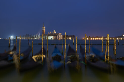 Italy, Venice, San Giorgio Maggiore as seen from San Marco at twilight - XCF00118