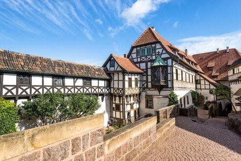 Germany, Thuringia, Eisenach, Wartburg, half-timbered houses - EGB00155