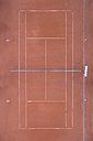 Empty tennis court, top view - MMAF00021
