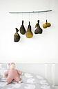 Self-made mobile hanging on wall - GISF00270
