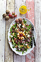 Platter with rocket, lychee, tangerine, cream cheese, walnuts, grapes and pomegranate seeds - SARF03110