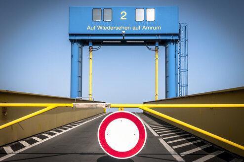 Germany, Amrum, empty ferry dock - EGBF00177