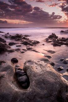 Spain, Tenerife, beach La Tejita at sunset - SIPF01300
