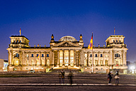 Germany, Berlin, view to lighted Reichstag at night - EGBF00179