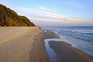 Germany, Usedom, Bansin, beach at sunset - SIEF07260