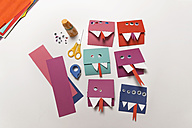 Home-made monster invitation cards - MFF03450