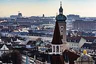 Germany, Munich, cityscape with Holy Spirit Church - THAF01892