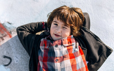 Portrait of relaxed little boy - MGOF02804