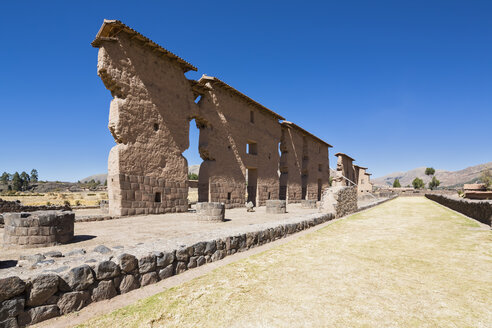 Peru, Andes, Cusco Region, Inca Temple of Raqch'i, Temple of Wiracocha - FOF08692
