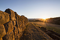 Peru, Andes, Chinchero, Inca ruins at sunset - FOF08695