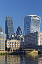 UK, London, Walkie Talkie building, Leadenhall building and The Gherkin - GFF00919