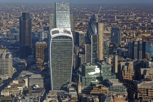 UK, London, skyline with office towers - GFF00931
