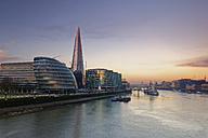UK, London, Southwark with City Hall and The Shard at dusk - GFF00943