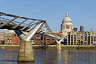 UK, London, St Paul's Cathedral and Millennium Bridge - GFF00949