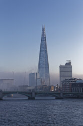 UK, London, River Thames and The Shard - GFF00952