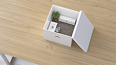 Office in a box, 3D Rendering - UWF01105