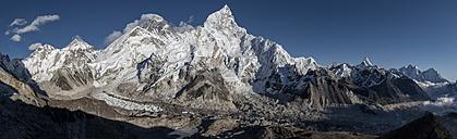 Nepal, Himalaya, Khumbu, Everest region, Everest and Nuptse - ALRF00803
