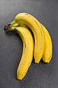 Three bananas on grey ground - JUNF00767