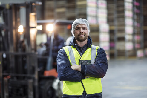 Portrait of confident warehouseman - ZEF12458