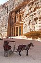 Jordan, Petra, horse cab in front of Al Khazneh - MABF00441