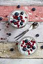 Fresh yogurt with blueberries, pomegranate seeds and chia - SARF03125